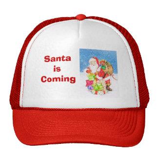 Santa está viniendo gorro de camionero