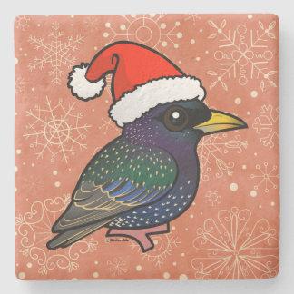 Santa European Starling Stone Coaster
