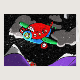 Santa Express Plane for Autism Card