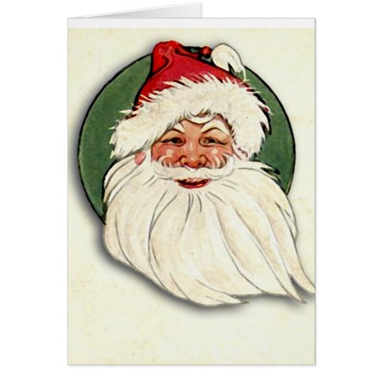 santa face card