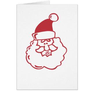 Santa Face Greeting Card