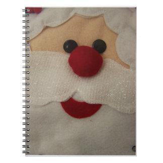 Santa Face Christmas Notebook