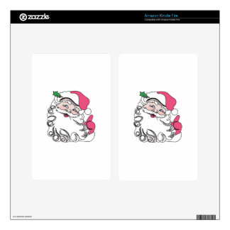 Santa Face Decal For Kindle Fire