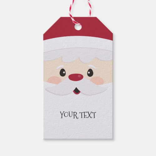 Santa Face Fun Personalized Gift Tag