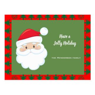 Santa Face Holiday Postcard