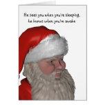 santa face humorous card