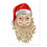 santa face post card