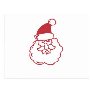 Santa Face Postcard
