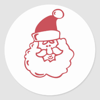 Santa Face Classic Round Sticker