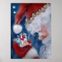 Santa & Faery Holiday Poster
