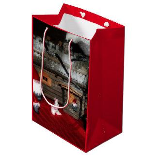 Santa Family Medium Gift Bag