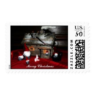 Santa Family Postage