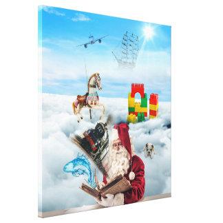 Santa Fantasy Canvas Stretched Canvas Print