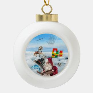 Santa Fantasy Christmas Ornament