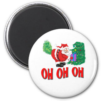 santa farted 2 inch round magnet