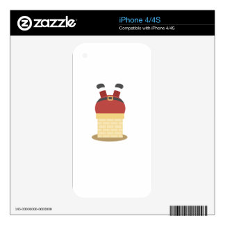 santa fat decal for the iPhone 4S