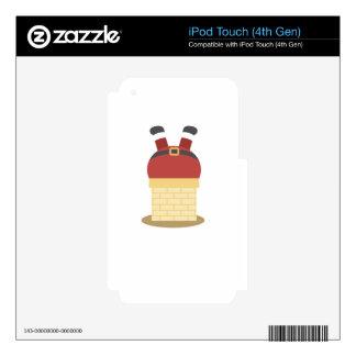santa fat iPod touch 4G skin