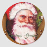 Santa Father Christmas Greetings Stickers