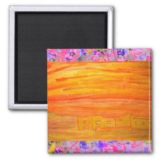 santa fe adobe sky drip 2 inch square magnet