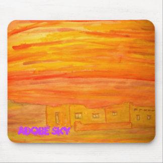 santa fe adobe sky mouse pad
