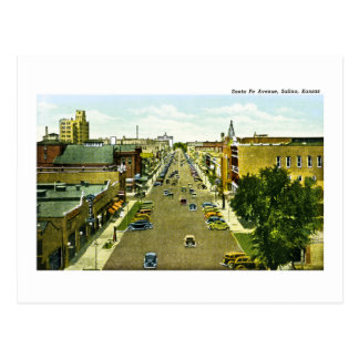 Santa Fe Avenue, Salina, Kansas Postcard