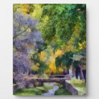 Santa Fe Bridge And River Photo Plaques