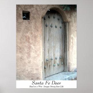 Santa Fe Door Poster