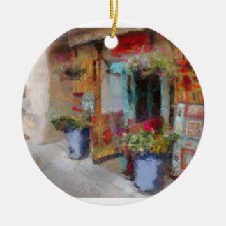 Santa Fe doorway. Ceramic Ornament