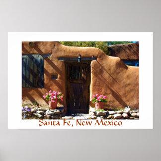 Santa Fe doorway poster