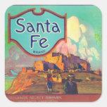 Santa Fe LabelRedlands anaranjado, CA Pegatina Cuadrada