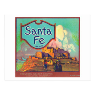 Santa Fe LabelRedlands anaranjado, CA Postales
