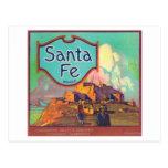 Santa Fe LabelRedlands anaranjado, CA Tarjeta Postal