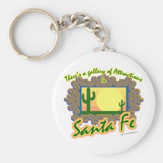 Santa Fe Llavero Redondo Tipo Pin
