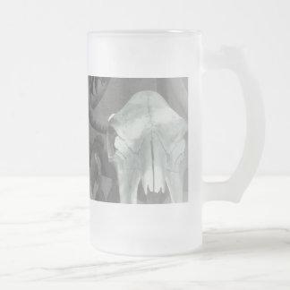 Santa Fe Market Skulls Frosted Glass Beer Mug