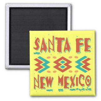 SANTA FE, NEW MEXICO 2 INCH SQUARE MAGNET
