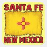 Santa Fe, New México Calcomania Cuadradas