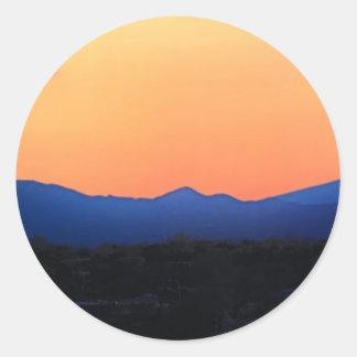 Santa Fe New Mexico Classic Round Sticker