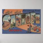 Santa Fe, New México - escenas grandes 2 de la let Póster