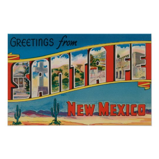 Santa Fe, New México - escenas grandes de la letra Póster