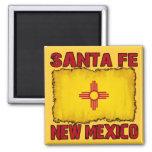 Santa Fe, New México Imán Cuadrado