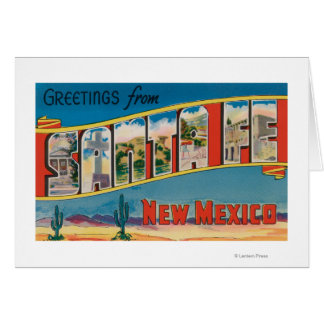 Santa Fe, New Mexico - Large Letter Scenes 2 Card