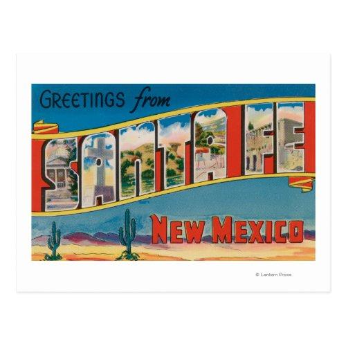 Santa Fe New Mexico _ Large Letter Scenes 2 Postcard