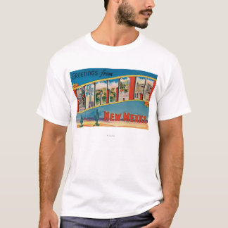 Santa Fe, New Mexico - Large Letter Scenes 2 T-Shirt