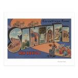 Santa Fe, New Mexico - Large Letter Scenes Postcard