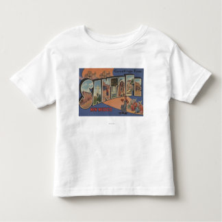 Santa Fe, New Mexico - Large Letter Scenes Toddler T-shirt