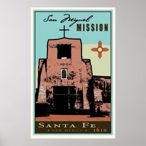 Santa Fe, New México, los E.E.U.U. Póster