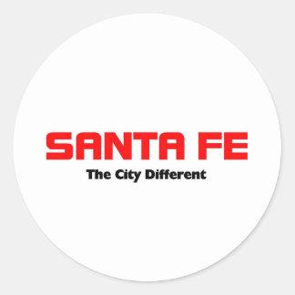 Santa Fe, New México Pegatina Redonda
