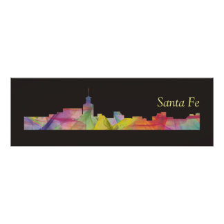 SANTA FE, NEW MEXICO SKYLINE BB - POSTER