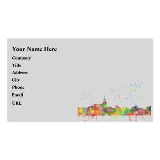 SANTA FE, NEW MEXICO SKYLINE Double-Sided STANDARD BUSINESS CARDS (Pack OF 100)