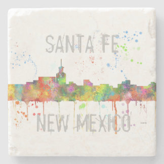 SANTA FE, NEW MEXICO SKYLINE STONE COASTER